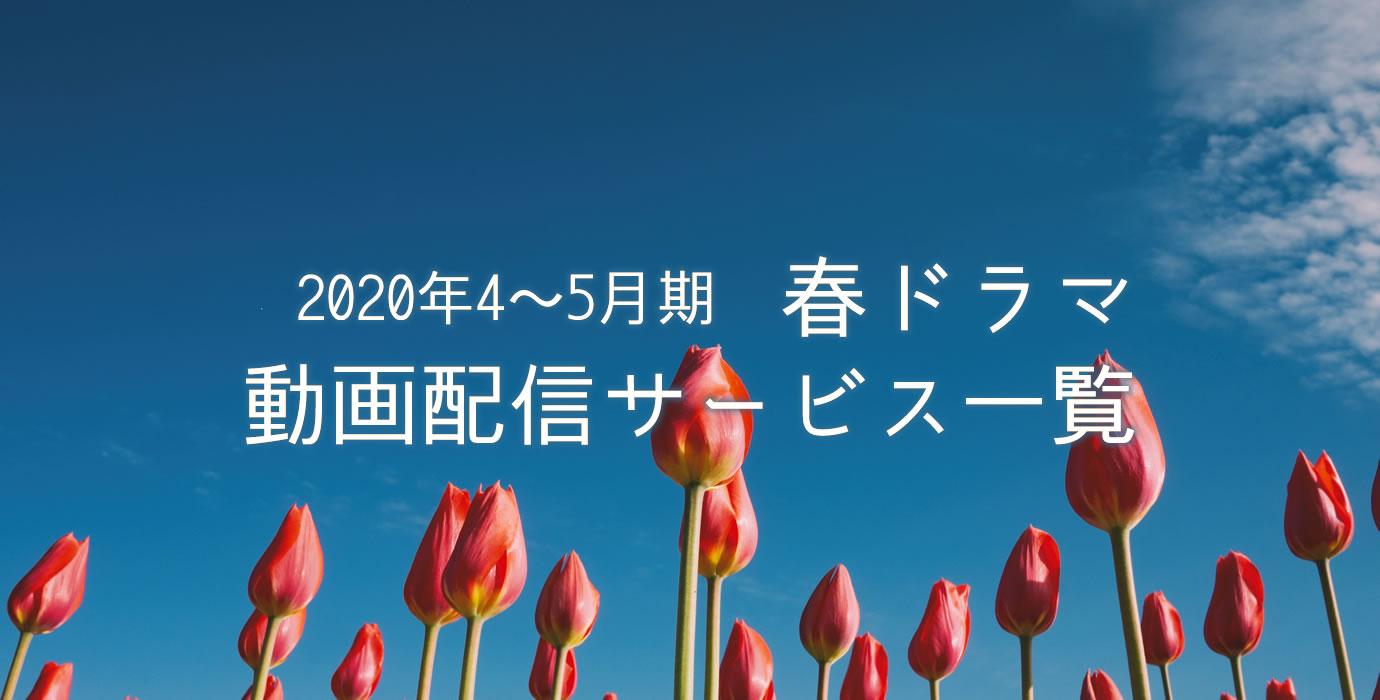 2020年春ドラマ